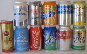 Soda cans 33 cl